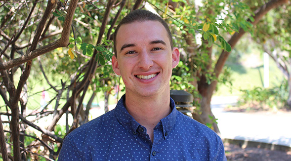 Jacob Sisneros chose to transfer to SDSU because of the great journalism program and the opportunity to live in San Diego.