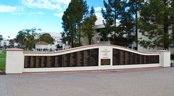 The Campaign for SDSU Donor Wall