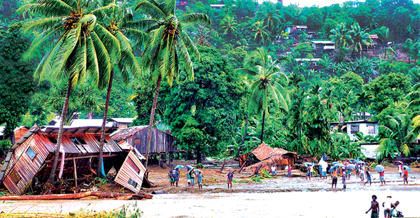 Communities in the Solomon Islands were devastated by Tropical Storm Ita. Photo: Anthony Bransby