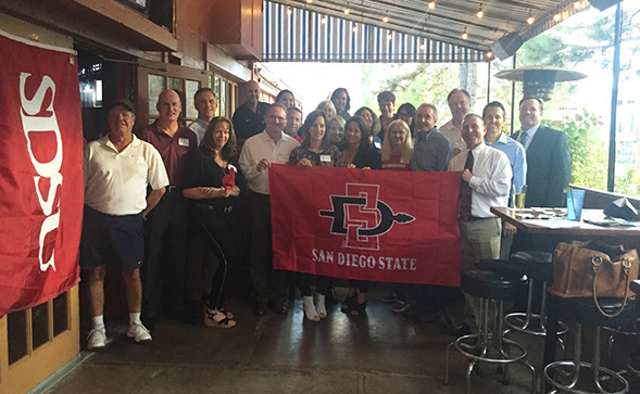 SDSU alumni and friends will gather to watch SDSU take on Houston in the Las Vegas Bowl.