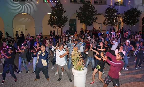 The Aztec Dance Marathon will take place Feb. 24-25 at Montezuma Hall in the Conrad Prebys Aztec Student Union. (Credit: Aztec Dance Marathon)