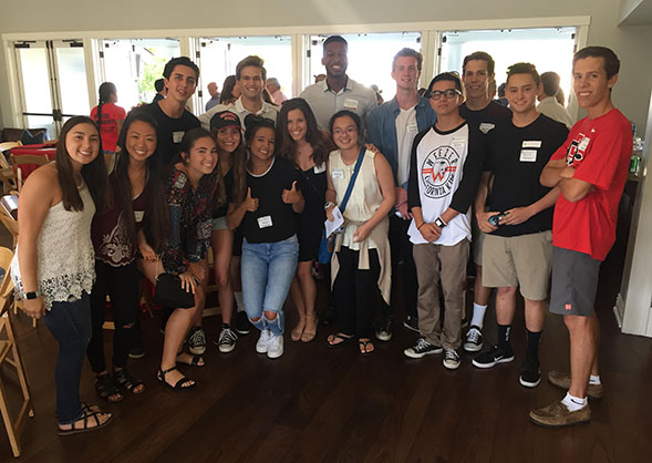 More than 100 incoming Aztecs and their parents gathered for the Orange County Regional Council's freshmen sendoff. (Photo: Dion Akers)