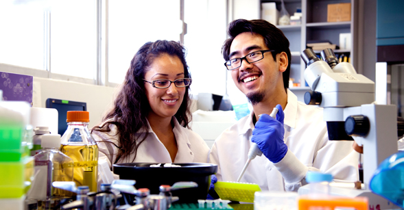 Students in the lab of Mark Sussman, Ph.D., director of SDSU's Integrated Regenerative Research Institute.