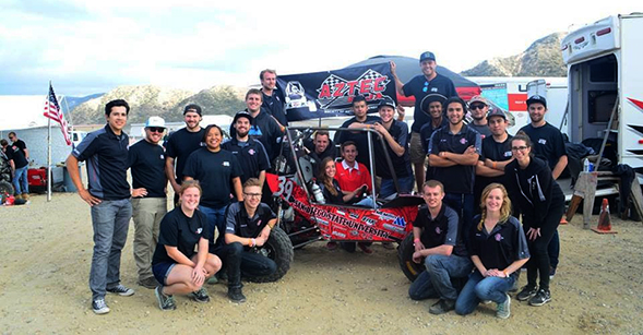 In 2016, Aztec Baja SAE won second place in the acceleration trial of a competition. (Credit: Aztec Baja SAE)