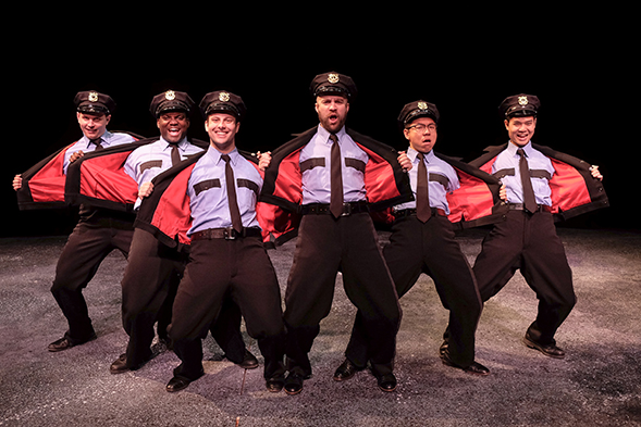 "The cast of ""The Full Monty"" is led by SDSU's MFA musical theatre class of 2018. (Photo: Ken Jacques)"
