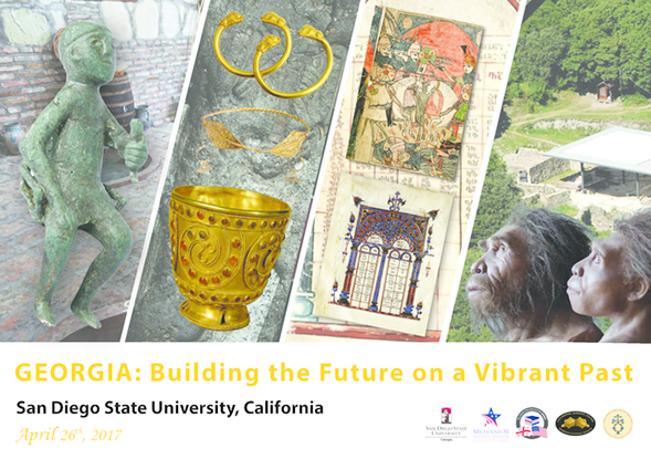 "The exhibit titled, ""Georgia: Building the Future on a Vibrant Past,"" will open at 1:30 p.m. on Wednesday, April 26, in SDSU's Love Library, Room 108."