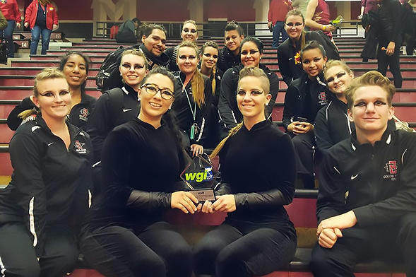 Aztec Winter Guard is the first four-year university in California to make the finals of the Winter Guard International World Championships. (Credit: Aztec Winter Guard)