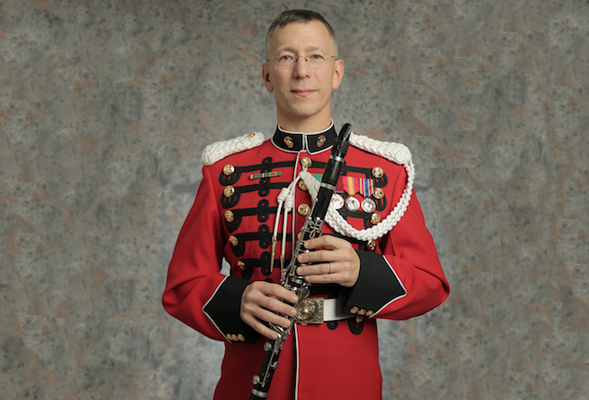 Master Gunnery Sergeant John Mula earned a master's degree in music from SDSU in 1987. (Credit: U.S. Marine Band)
