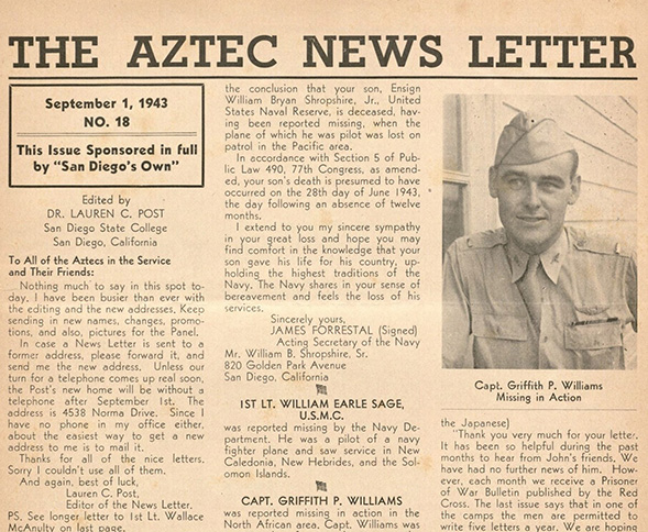 The Aztec News Letter from Sept. 1, 1943