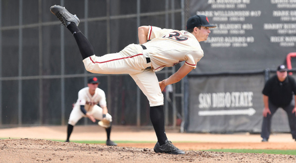 SDSU right-handed pitcher Garrett Hill was selected in the 26th round by the Detroit Tigers.
