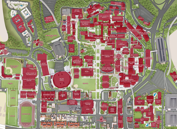Sdsu Campus Map Pdf.New Interactive Map Rolled Out Newscenter Sdsu