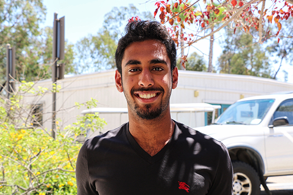 Duaij Alsabah is one of 353 international freshmen attending SDSU this fall. (Photo: Alejandra Cruz)