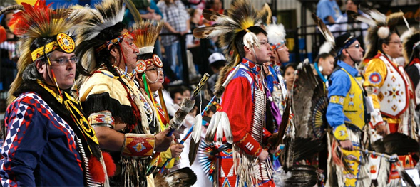 Participants in the annual Lipay Tipay Mateyum Powwow, held at SDSU.