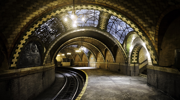 The abandoned subway station in New York City that became the centerpiece for the SDSU team's proposal. Photo by: John-Paul Palescandolo & Eric Kazmirek.