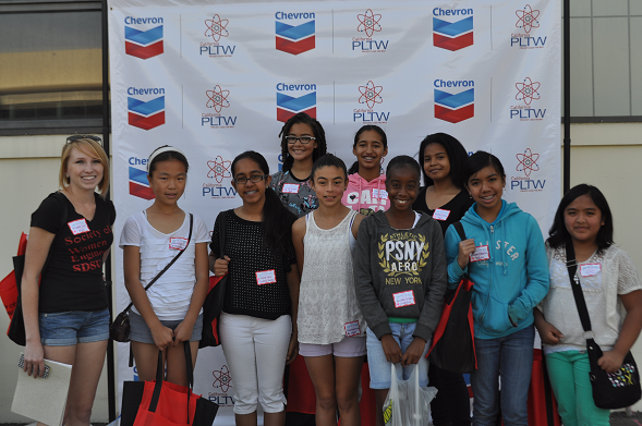 Participants at the Project Lead The Way Girl's Day Out in 2015.
