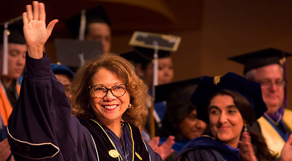 Cal State Fullerton Graduation 2020.Inauguration Spotlight Keynote Speaker Mildred Garcia