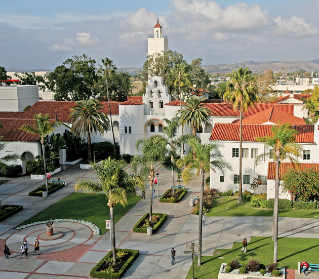 Image of Hepner Hall and the old Quad