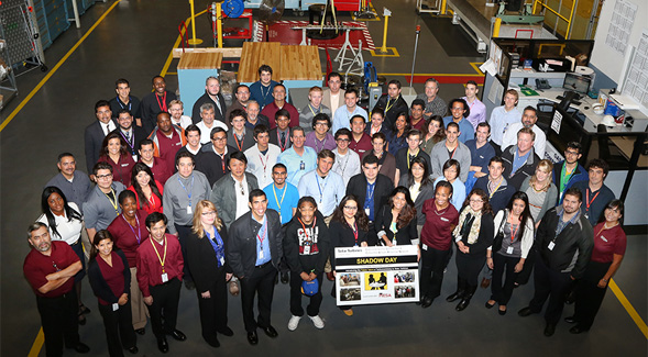 Participants were able to shadow 11 of San Diego's top engineering companies.