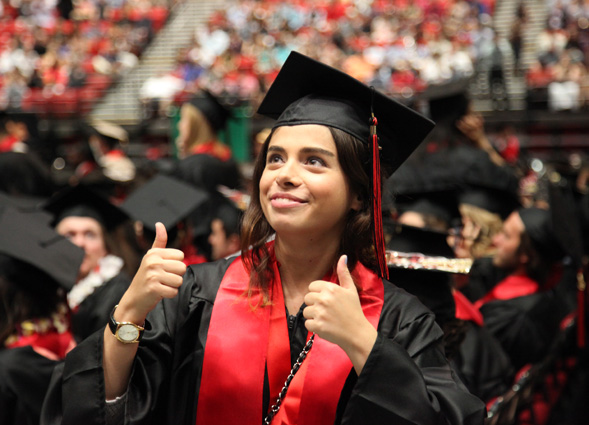 Many SDSU graduates have a job before they cross the commencement stage.