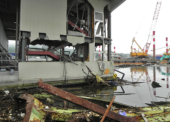 Kesennuma Harbor after the 2011 tsunami
