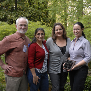 From left to right: John Elder, director; Guadalupe Ayala, co-director; Margarita Holguin, National Community Committee representative; and Lisa Hoffman, managing director and community liaison