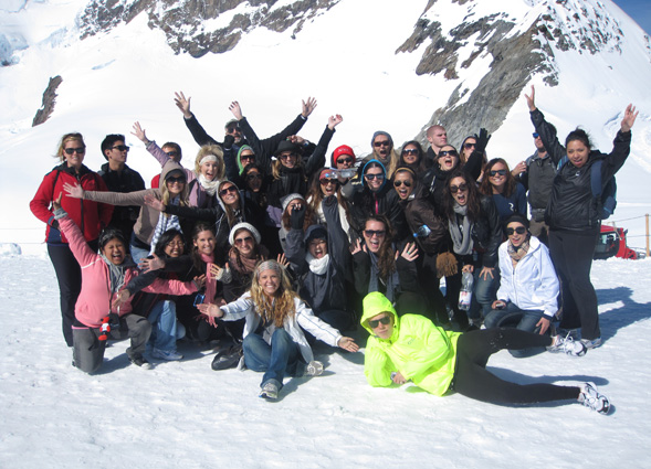 SDSU students studying abroad in Europe.