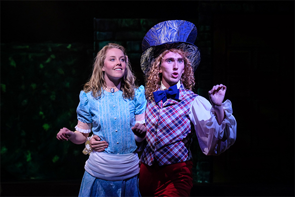 Alice and the Mad Hatter. Photo: Ken Jaques