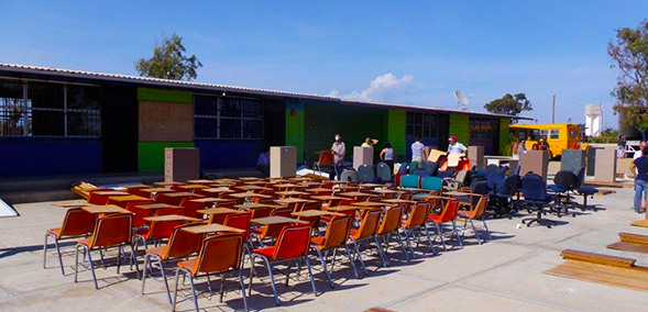 Twenty-two schools received furniture from SDSU's Business Services department.