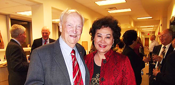 Ambassador Charles W. Hostler and his wife, Chinyeh Rose.
