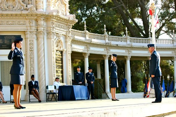 The 2012 Air Force commissioning ceremony at Spreckles Organ Pavilion at Balboa Park.