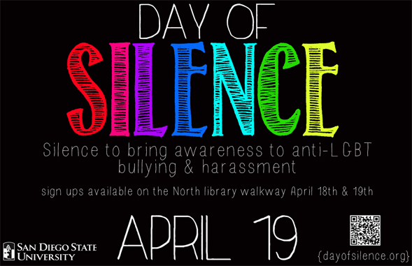 The Day of Silence event takes place at schools all over the United States.
