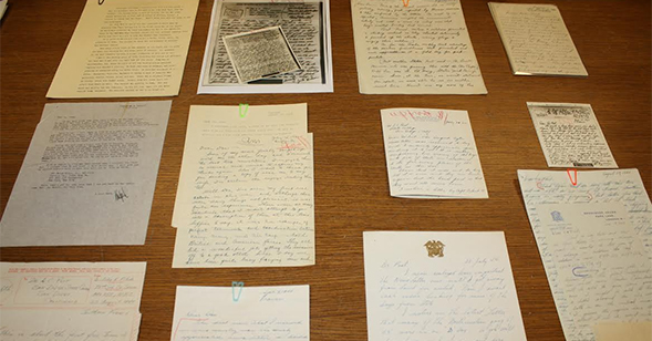 The collection contains almost 5,000 letters from the World War II era.