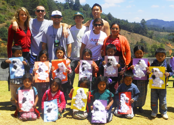 SDSU students help at a Guatemalan elementary school over their spring break. (Photo courtesy Patricia Lozada-Santone)