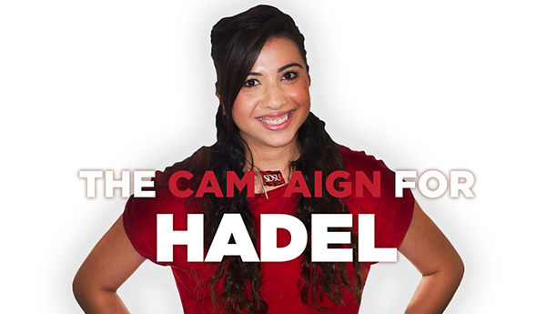 Hadel Awad, a criminal justice major in the College of Professional Studies and Fine Arts