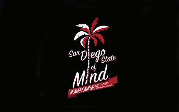 The 2015 Homecoming design was inspired by SDSU's attitude and culture.