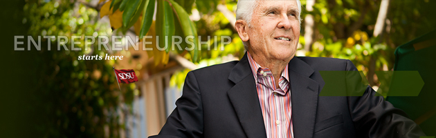 SDSU business management major Bob Payne, '55, personifies the Aztec entrepreneurial spirit.
