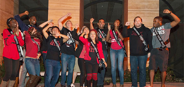 The 2014 SDSU Homecoming court.