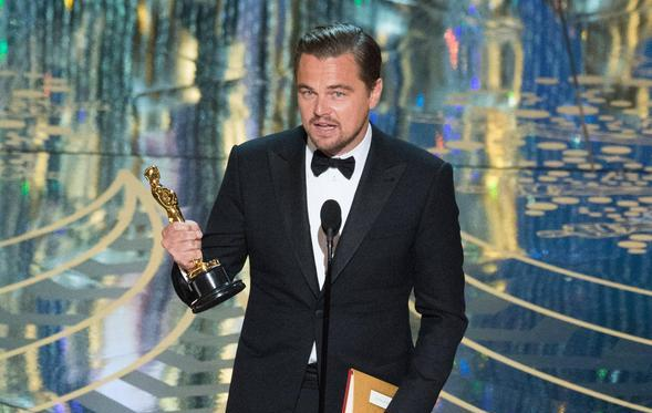Leonardo DiCaprio won Best Actor at the 88th Academy Awards. (Credit: A.M.P.A.S.)