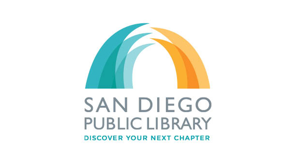 San Diego Public Library's new logo was designed by SDSU student Lauren Fickling.