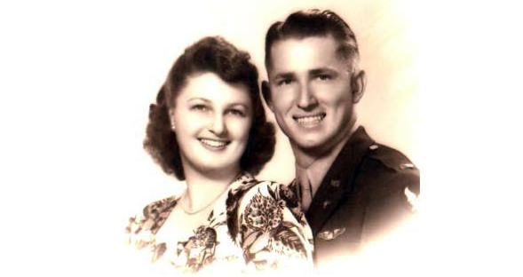 Mary Louise and Bob Harvey circa 1943.