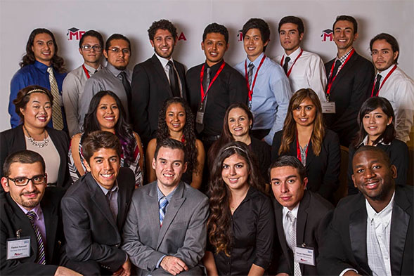 SDSU students with Silvia Morales of SDG&E.