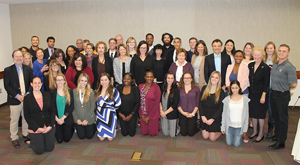 Mortar Board students, faculty and staff.