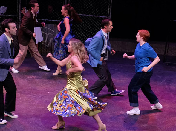 "Jessica Humphrey (far right) as ""Anybody"" in West Side Story (photo courtesy of Lambs Players Theatre)."