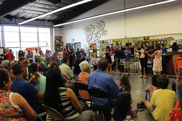 SDSU students lead their own classrooms to share the beauty of music with students.