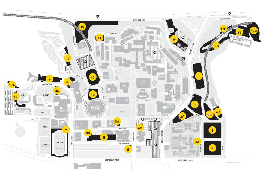 A rendering of the new parking map.