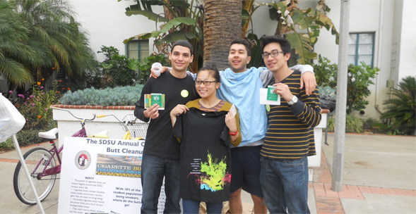 More than 50 students participated in the annual cigarette butt cleanup on March 22