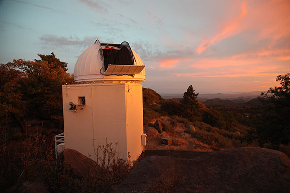 SDSU's Mount Laguna Observatory was represented by Strive.