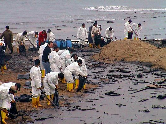The Gulf Coast oil spill has reached the coast line.