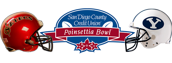 The Aztecs take on BYU Thursday night in the eighth annual San Diego County Credit Union Poinsettia Bowl.