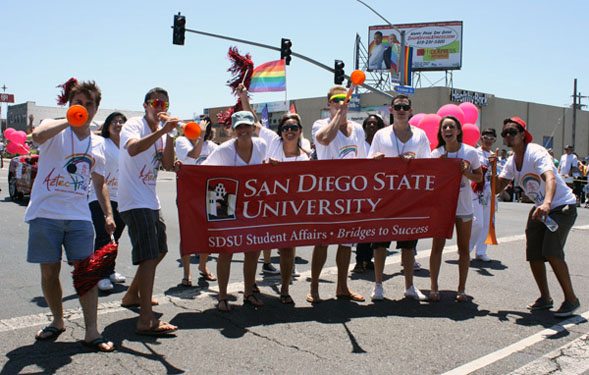 Students, faculty, staff and alumni are invited to participate in the 2013 SDSU Pride delegation.